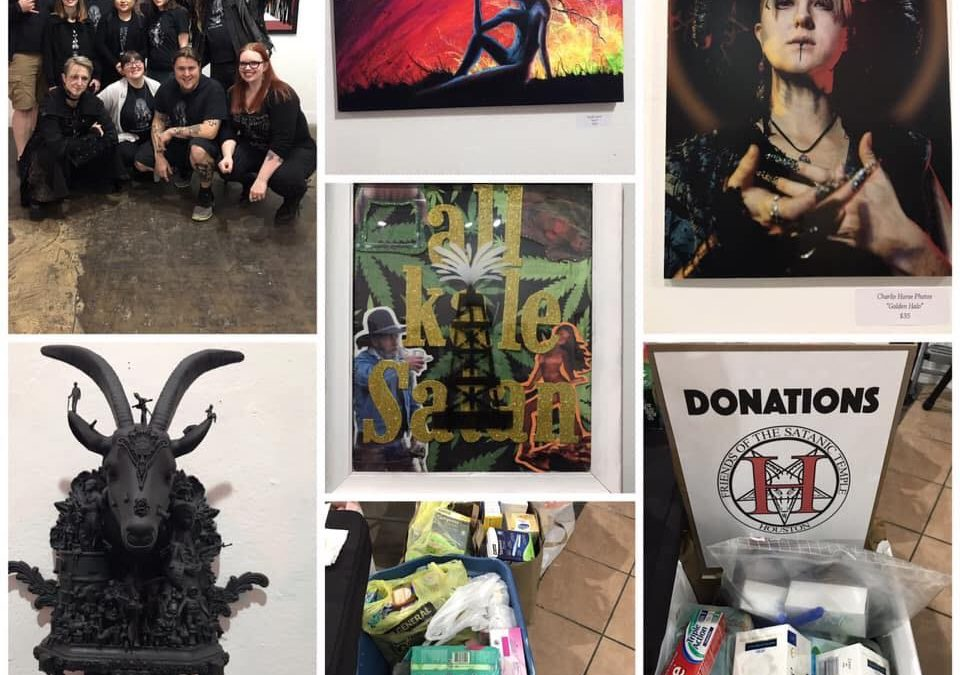 "Houston Satanic Temple launches first charity art showing ""Left Hand Illumination"""